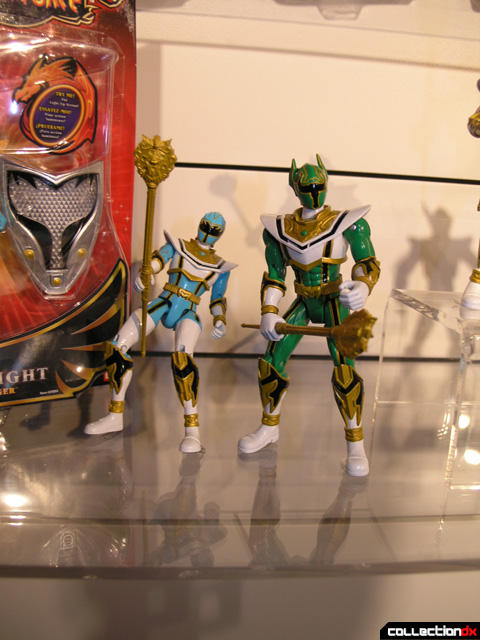 Blue Mystic Light Power Ranger with Green Ranger