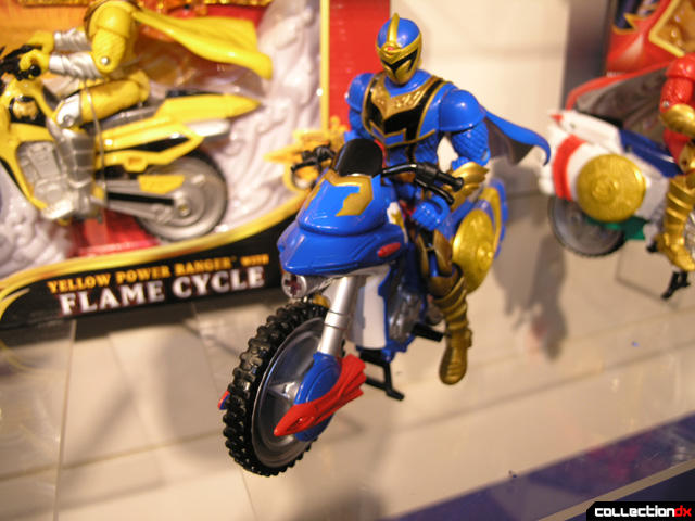Blue Power Ranger with Cycle
