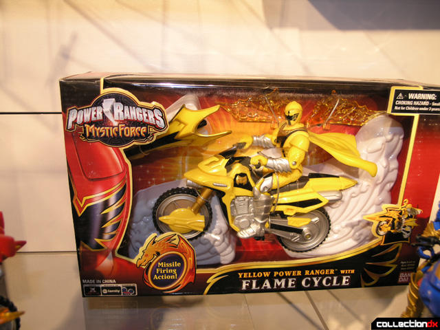 Yellow Power Ranger with Flame Cycle